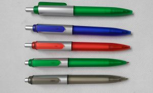Frosted + Silver barrel frosted clip pens