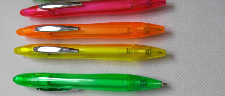 Metal Clip Translucent Pens