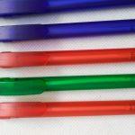 Frosted barrel clip pens